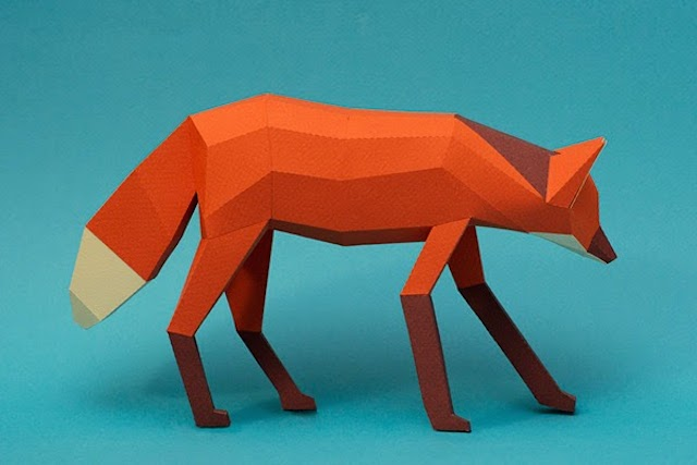 Papercraft Origami Style Animals