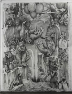 Intricate-Animal-Murals-Made-With-Pencil-by-Adonna-Khare-1-677x883