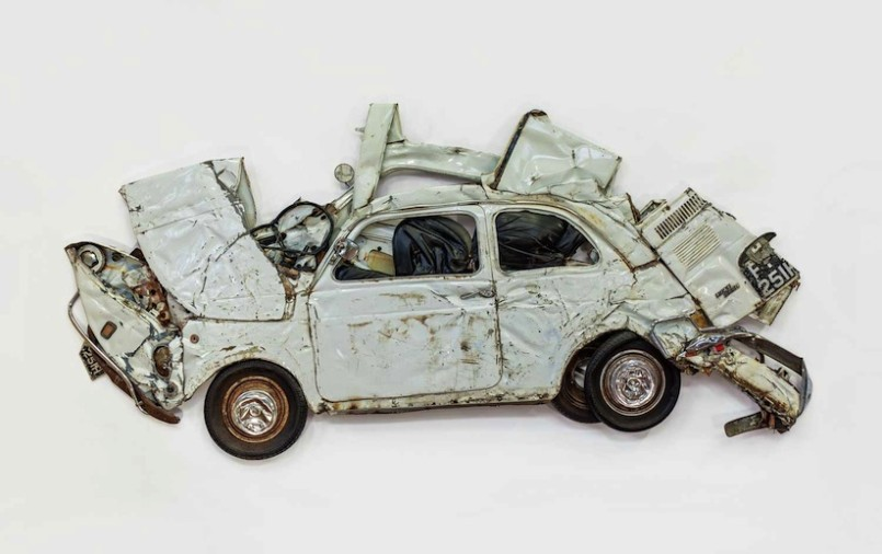ron arad fiat flattened sculptures