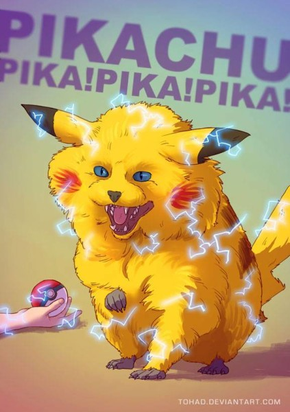 Unique illustrations of your favourite animated characters pikachu